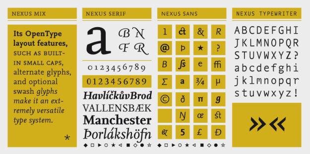 FF Nexus, FF Nexus Sans, FF Nexus Serif