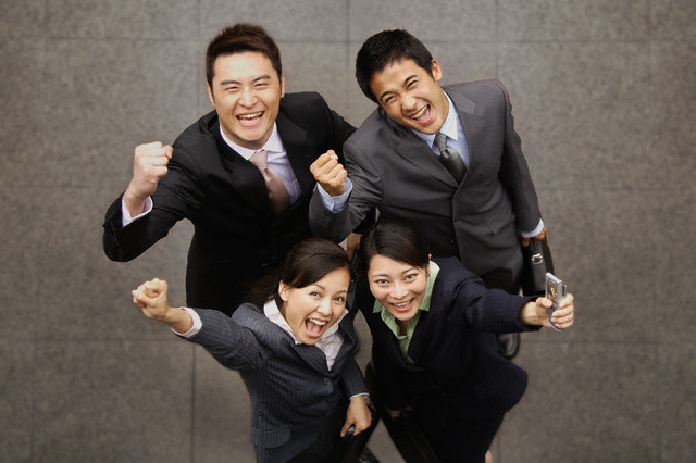 Excited Businesspeople