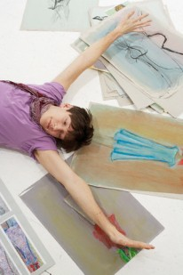 Young Artist Stretching