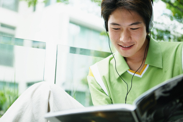 Young Man Studying