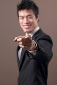 Businessman Pointing
