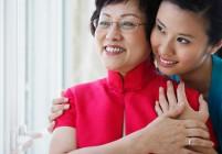 Daughter Hugging Mother