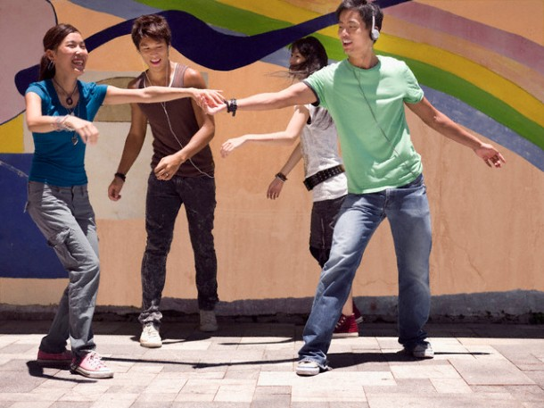 Young People Dancing