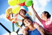 Family at Amusement Park