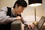 Businessman Using a Laptop