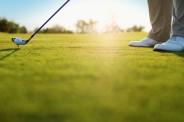 Golfer Preparing to Swing