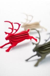 Model reindeers in studio
