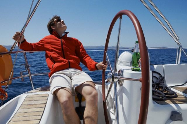 man on yacht, Adriatic sea, Dalmatia