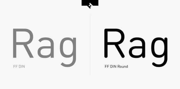 FF Din and FF Din Round Comparison