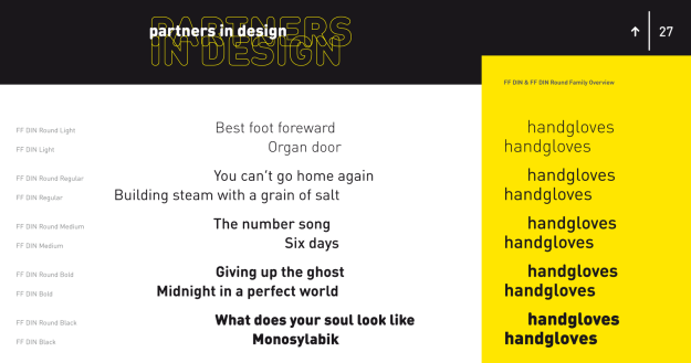 FF Din and FF Din Round partners in Design