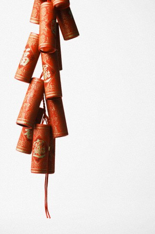 Close-up of Chinese fire crackers