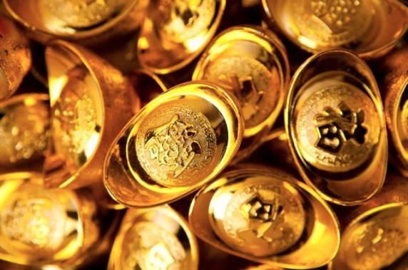 Abundance of gold ingots