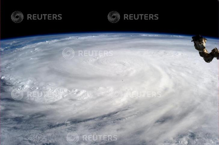 Typhoon Haiyan is pictured from the International Space Station