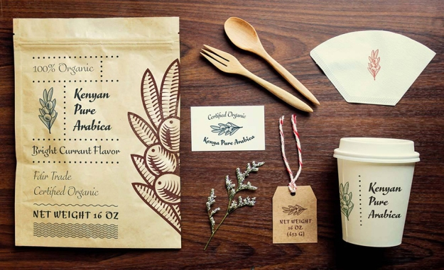 Fictitious use case for FF Eggo: Corporate design coffee shop