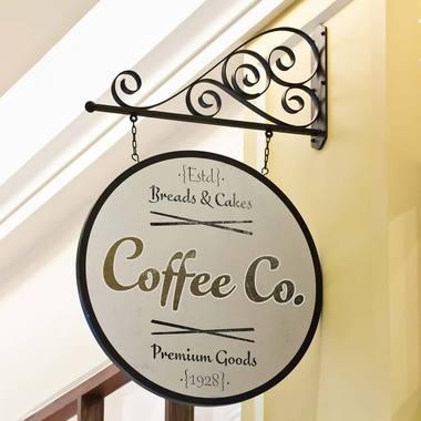 Fictitious use case for FF Eggo: Coffee shop sign