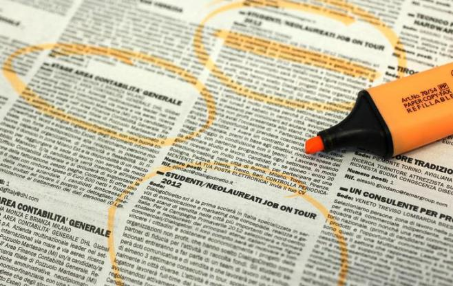 Job offers are seen in this illustration in Milan April 3, 2012. Italy's headline jobless rate has been running below the euro zone average, but analysts say the real challenge for Italy is to increase its chronically low rates of employment and participation in the labour market, which are among the lowest in the industrialized world, especially among women, the young and the elderly. REUTERS/Alessandro Garofalo (ITALY - Tags: BUSINESS EMPLOYMENT POLITICS)