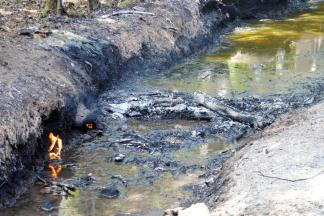 The area where a pipeline exploded during an illegal tap in Zapoapan, Veracruz, Mexico August 19, 2017. REUTERS/Guillermo Carreon
